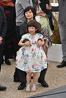 Jyo Kairi, Miyu Sasaki at the photocall for Japanese film 'Shoplifters (Manbiki Kazoku)' during the 71st annual Cannes Film Festival at Palais des Festivals on May 14, 2018 in Cannes, France.<br /> CAP/PL<br /> &copy;Phil Loftus/Capital Pictures