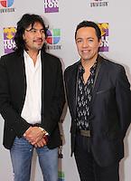MIAMI, FL - DECEMBER 14: Adolfo Angel and Gustavo Angel of Los Temerarios at Teleton USA at Univision Studios in Miami, Florida. December 14, 2012. Credit: Majo Grossi/MediaPunch Inc. /NortePhoto