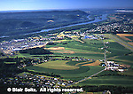 Aerial, Northumberland Co. Farms and Susquehanna River, Sellinsgrove, Aerial Photograph Pennsylvania