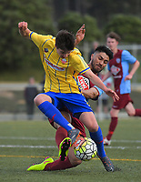 Action from the 2018 Chatham Cup football match between North Wellington and Western Suburbs at Alex Moore Park in Wellington, New Zealand on Sunday, 15 July 2018. Photo: Dave Lintott / lintottphoto.co.nz