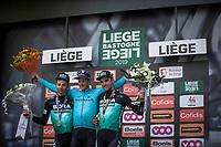 podium:<br /> <br /> 1st place: Jakob Fuglsang (DEN/Astana)<br /> 2nd place: Davide Formolo (ITA/Bora Hansgrohe)<br /> 3th place: Maximilian Schachmann (DEU/Bora Hansgrohe), <br /> <br /> <br /> 105TH Liège-Bastogne-Liège 2019 (1.UWT)<br /> 1 Day Race Liège-Liège (256km)<br /> <br /> ©kramon