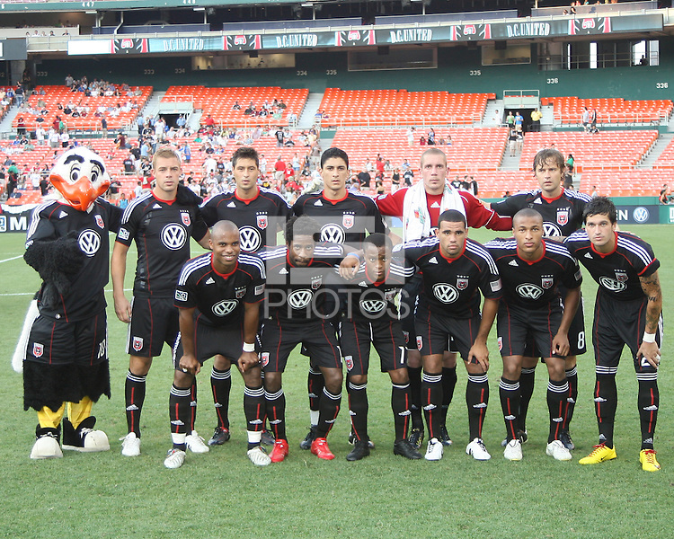 Starting eleven of D.C. United during an international friendly match against Portsmouth FC at RFK Stadium on July 24 2010, in Washington D.C. united won 4-0.