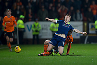 27th December 2019; Dens Park, Dundee, Scotland; Scottish Championship Football, Dundee Football Club versus Dundee United; Danny Johnson of Dundee is fouled by Calum Butcher of Dundee United  - Editorial Use