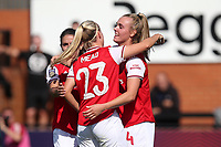 Jill Roord of Arsenal scores the second goal for her team and celebrates with her team mates during Arsenal Women vs West Ham United Women, Barclays FA Women's Super League Football at Meadow Park on 8th September 2019