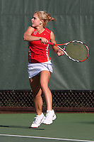 STANFORD, CA - FEBRUARY 19:  Courtney Clayton of the Stanford Cardinal during Stanford's 5-2 win over the St. Mary's Gaels on February 19, 2009 at the Taube Family Tennis Stadium in Stanford, California.
