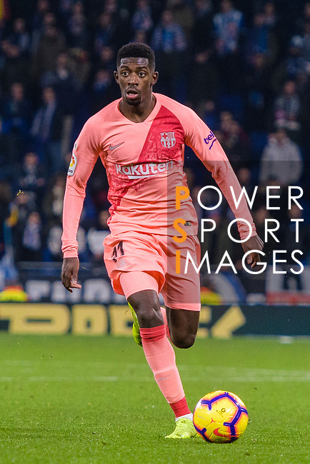 Ousmane Dembele of FC Barcelona in action during the La Liga 2018-19 match between RDC Espanyol and FC Barcelona at Camp Nou on 08 December 2018 in Barcelona, Spain. Photo by Vicens Gimenez / Power Sport Images