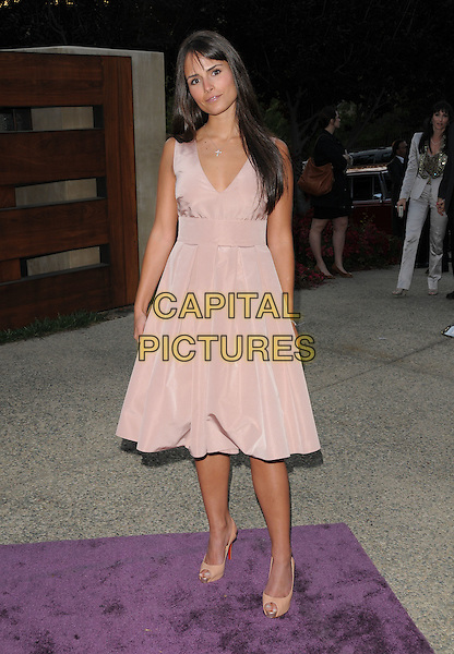 JORDANNA BREWSTER.Attending The 7th Annual Chrysalis Butterfly Ball held at a private estate in Brentwood, California, USA,.May 31st 2008                                                                     .full length pink dress  beige Christian louboutin shoes.CAP/DVS.©Debbie VanStory/Capital Pictures