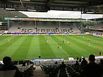 Fu§ball: Bundesliga, 27. Spieltag, SC Freiburg - Werder Bremen, im Schwarzwald-Stadion. Spieler beider Mannschaften in Aktion.