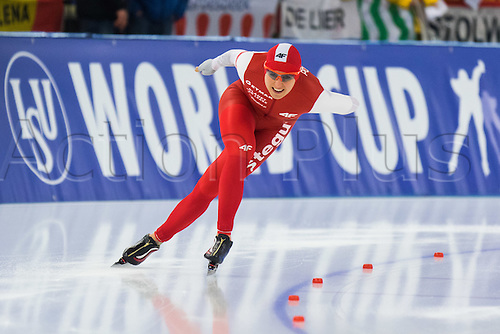 January 29th 2017, Sportforum, Berlin, Germany; ISU Speed Skating World Cup;  ISU Speed Skating World Cup 1000m Division A; Natali Czerwonka (POL)