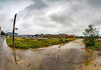Washington D.C. - October 1, 2016: Half and S Street. Buzzards Point area in Southwest Washington D.C., cleared for construction of the new soccer stadium for D.C. United scheduled to open in 2018.