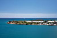 Aerial view of Sand Island, Honolulu, Oahu