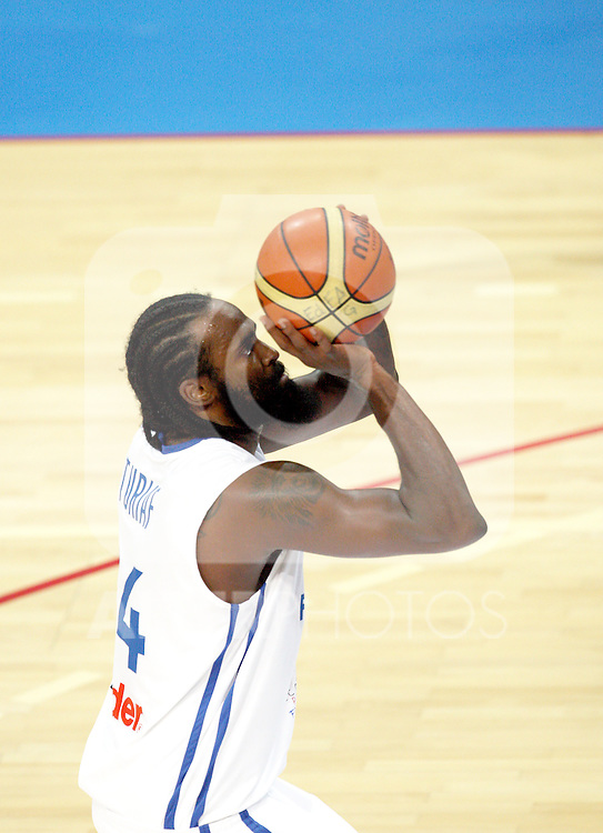 Ronny Turiaf of France. France v Canada, friendly basketball match in preparation for the European championships. Palais Des Sports, Toulouse, France, 27th July 2011.