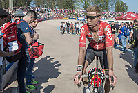 Marcel Sieberg (DEU/Lotto-Soudal) post-race<br /> <br /> 115th Paris-Roubaix 2017 (1.UWT)<br /> One day race: Compi&egrave;gne &gt; Roubaix (257km)