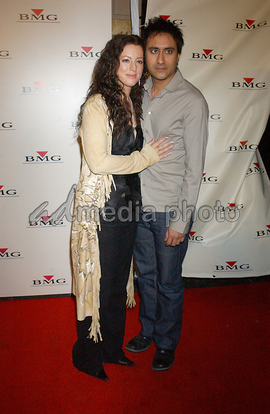 Feb. 8, 2004; Hollywood, CA, USA; Singer SARAH McLACHLAN and husband Ashwin Soodduring the BMG 46th Annual Grammy Awards Post-Grammy Gala Celebration held at The Avalon. Mandatory Credit: Photo by Laura Farr/AdMedia. (©) Copyright 2003 by Laura Farr
