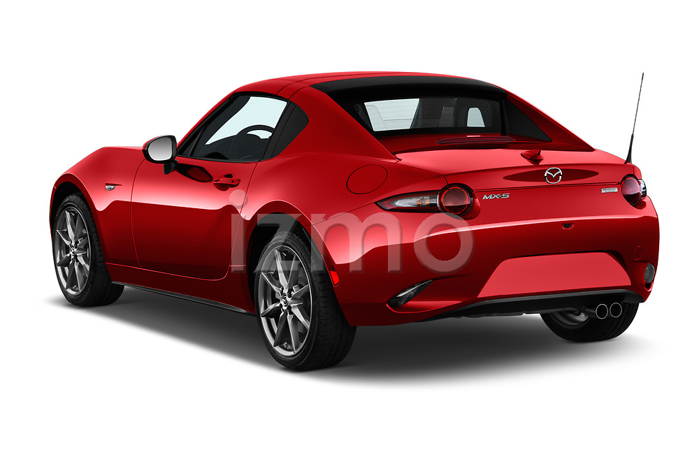 Car pictures of rear three quarter view of 2019 Mazda MX-5 Selection 2 Door Targa Angular Rear