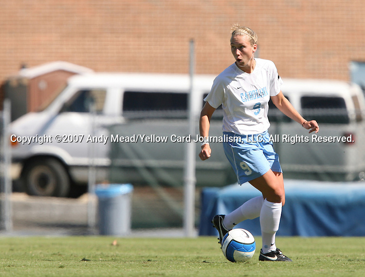 14 October 2007: North Carolina's Whitney Engen. The University of North Carolina Tar Heels defeated the Wake Forest University Demon Deacons 1-0 at Fetzer Field in Chapel Hill, North Carolina in an Atlantic Coast Conference NCAA Division I Womens Soccer game.