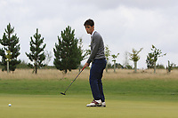 Dermot McElroy (IRL) on the 2nd green during Round 1 of the Bridgestone Challenge 2017 at the Luton Hoo Hotel Golf &amp; Spa, Luton, Bedfordshire, England. 07/09/2017<br /> Picture: Golffile | Thos Caffrey<br /> <br /> <br /> All photo usage must carry mandatory copyright credit     (&copy; Golffile | Thos Caffrey)