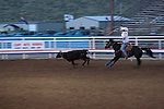 WY: Wyoming, Cody..Cody Night Rodeo..Photo #: yellow887..Photo copyright Lee Foster, 510/549-2202, lee@fostertravel.com, www.fostertravel.com..