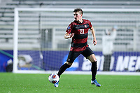 CARY, NC - DECEMBER 13: Keegan Tingey #21 of Stanford University plays the ball during a game between Stanford and Georgetown at Sahlen's Stadium at WakeMed Soccer Park on December 13, 2019 in Cary, North Carolina.