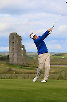 Liam Doran (Ardee) on the 13th tee during Round 2 of The South of Ireland in Lahinch Golf Club on Sunday 27th July 2014.<br /> Picture:  Thos Caffrey / www.golffile.ie
