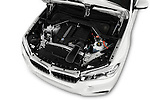 Car Stock 2017 BMW X6 sDrive35i 5 Door SUV Engine  high angle detail view