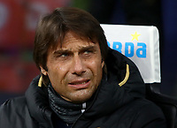 Calcio, Serie A: Inter Milano - AS Roma, Giuseppe Meazza stadium, December 6, 2019.<br /> Inter's coach Antonio Conte prior to the Italian Serie A football match between Inter and Roma at Giuseppe Meazza (San Siro) stadium, on December 6, 2019.<br /> UPDATE IMAGES PRESS/Isabella Bonotto