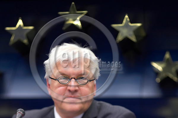BRUSSELS - BELGIUM - 17 JULY 2006 -- EU-Council General Affairs meeting with Foreign Ministers, Finnish Presidency. -- German Foreign Minister Frank-Walter STEINMEIER attends a news conference at the end of the EU general affairs council. -- PHOTO: Thierry MONASSE / EUP-IMAGES