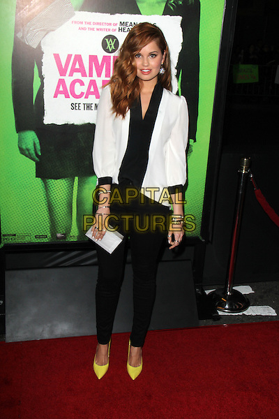 LOS ANGELES, CA - February 04: Debby Ryan at the &quot;Vampire Academy&quot; Los Angeles Premiere, Regal Cinemas, Los Angeles,  February 04, 2014. <br /> CAP/MPI/JO<br /> &copy;JO/MPI/Capital Pictures