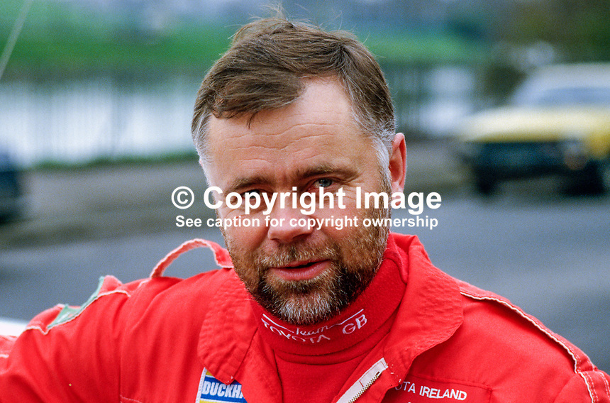 Per Eklund, rally driver, Sweden, 19850402PE..Copyright Image from Victor Patterson, 54 Dorchester Park, Belfast, UK, BT9 6RJ..Tel: +44 28 9066 1296.Mob: +44 7802 353836.Voicemail +44 20 8816 7153.Skype: victorpattersonbelfast.Email: victorpatterson@mac.com.Email: victorpatterson@ireland.com (back-up)..IMPORTANT: If you wish to use this image or any other of my images please go to www.victorpatterson.com and click on the Terms & Conditions. Then contact me by email or phone with the reference number(s) of the image(s) concerned.
