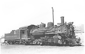 3/4 right side view of K-28 #475.<br /> D&amp;RGW  Santa Fe, NM  7/1938