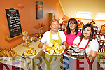IT'S 100% GLUTEN FREE: Doireann Barrett from The Gluten Free Kitchen Company (right) opened the first all gluten free cafe in Tralee on Thursday last. Pictured with Doireann were Kathleen Collins (left)  and the cafes first customer Margaret Moore (centre).