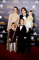 Luka Modric - sa femme Vanja et ses enfants<br /> Parigi 3-12-2018 <br /> Arrivi Cerimonia di premiazione Pallone d'Oro 2018 <br /> Foto JB Autissier/Panoramic/Insidefoto <br /> ITALY ONLY