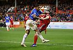 06.02.2019: Aberdeen v Rangers: Alfredo Morelos and Scott McKenna