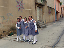 Iraq 2011 Schoolgirls in uniform in a street of Duhok  Irak 2013 Ecolieres en uniforme dans une rue de Duhok