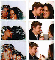 COPY BY TOM BEDFORD<br /> Pictured: The strip from the photobooth of Elliot Amos with girlfriend Ronak Darafshian taken four years ago (L) and the most recent one when Elliot proposed (R)<br /> Re: Graduates Elliot Amos and Ronak Darafshian met during Freshers' week at the University of South Wales.<br /> This couple went to a photo booth on their first date – and four years later it was the setting for their engagement.<br /> Graduates Elliot Amos and Ronak Darafshian met during freshers' week in their first year at the University of South Wales.<br /> Ronak, from Surrey, was studying journalism, while Llantrisant-born Elliot was studying media and as fate would have it the pair ended up living in the same halls of residence.<br /> After becoming close friends they went on their first date to a bowling alley in Cardiff Bay and captured the moment with a snap from a photo booth.<br /> Now, four years on, Elliot – who has kept the first date photo in his wallet ever since – returned to the very same booth to pop the question to Ronak.