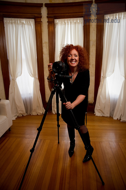 Cathy Deitz, owner and photographer of Cathy Deitz Photography, for MCOB Business Magazine..Photo by Matt Cashore/University of Notre Dame