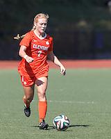 NCAA Division I. Clemson University (orange) defeated Boston College (gold), 1-0, on Gordon Field at Brandeis University, on September 28, 2014.