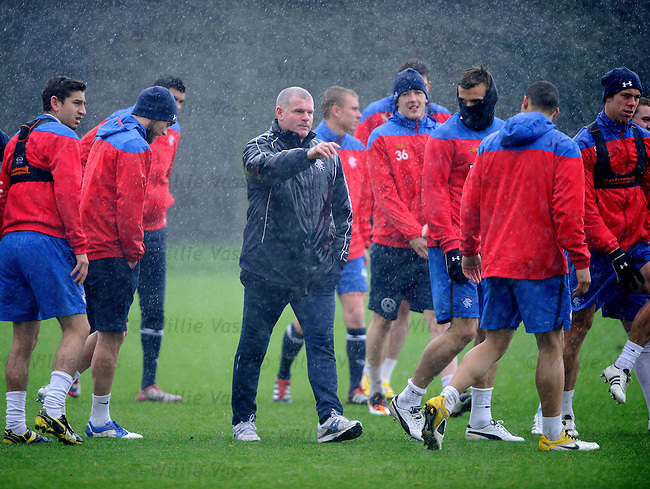 Ian Durrant in a downpour