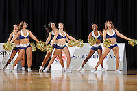 12 January 2012:  FIU's Golden Dazzlers entertain the crowd during a break in the action in the second half as the Middle Tennessee State University Blue Raiders defeated the FIU Golden Panthers, 70-59, at the U.S. Century Bank Arena in Miami, Florida.