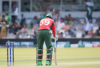 Soumya Sarkar (Bangladesh) can't quite believe he has picked out the fielder and is dismissed during Pakistan vs Bangladesh, ICC World Cup Cricket at Lord's Cricket Ground on 5th July 2019
