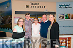 L-R Karen, Jack, Marguerite, Gerard and Claire Brosnan photographed at the Kerry Airport last Saturday after Jack's parents and sisters arrived from Australia.