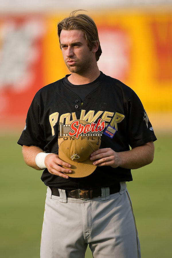 West Virginia third baseman Taylor Green (2) at L.P. Frans Stadium in Hickory, NC, Friday, August 24, 2007.