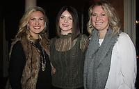NWA Democrat-Gazette/CARIN SCHOPPMEYER Courtney Brandt (from left), Jessica Patterson and Mandy Wallace help support Restore Humanity.