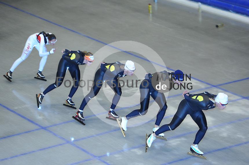 SCHAATSEN: HEERENVEEN: Thialf, 14-06-2012, Zomerijs, Marrit Leenstra, Lotte van Beek, Renz Rotteveel, Maurice Vriend, Koen Verweij, ©foto Martin de Jong