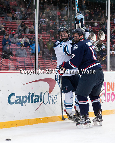 Dane Gibson (Maine - 16), Jesse Schwartz (UConn - 17) - The University of Maine Black Bears defeated the University of Connecticut Huskies 4-0 at Fenway Park on Saturday, January 14, 2017, in Boston, Massachusetts.
