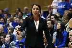 21 December 2014: Duke head coach Joanne P. McCallie. The Duke University Blue Devils hosted the University of Kentucky Wildcats at Cameron Indoor Stadium in Durham, North Carolina in a 2014-15 NCAA Division I Women's Basketball game. Duke won the game 89-68.