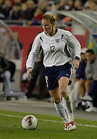Cindy Parlow, USA vs. Norway, in Boston, Ma, 2003 WWC.