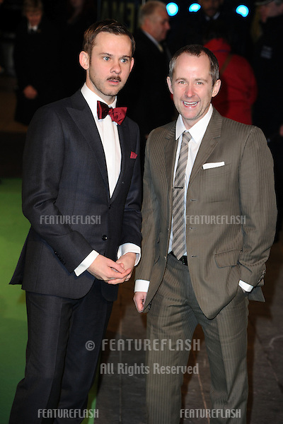 "Dominic Monaghan and Billy Boyd arriving for the premiere of ""The Hobbit: An Unexpected Journey"" at the Odeon Leicester Square, London. 12/12/2012 Picture by: Steve Vas / Featureflash"