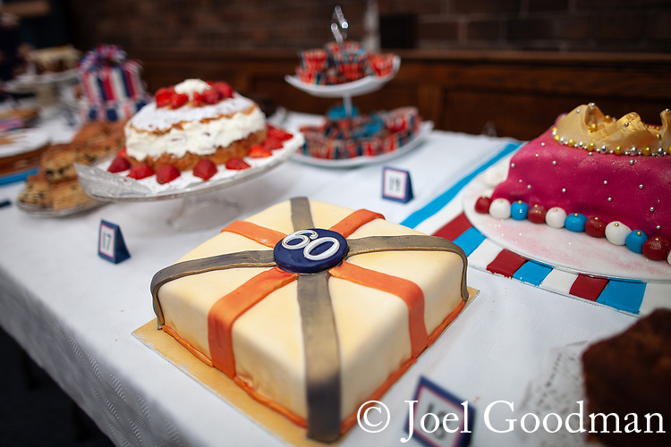 © Joel Goodman - 07973 332324 . 03/06/2012 . Manchester , UK . Queen's Diamond Jubilee cake baking competition at St Dunstan's RC church , Moston Road , Moston . Photo credit : Joel Goodman