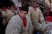 Costumes of fur and bells are very old and traditional and are the highlight of the carnival parade in Slovenia. The history of Pust or Carnival in old Europe traces back to beliefs that dark and cold winter was caused by evils. When people found the sign of the spring, they celebrated to drive away the winter evils. In Christianity, Easter is celebrated in March or April. 40 days before the Easter, except no counting of Sundays, is the Fat Tuesday which is the last day of the carnivals.<br /> <br /> <br /> Costumes of fur and bells are very old and traditional and are the highlight of the carnival parade.  The masked creatures and mostly silent except for their bells, but they like to spot women in the crowd, surround them and jump up and down in a circle.  The costumes complete with the towering masks are heavy--weighing 120 pounds.  They dance in the town square and then .